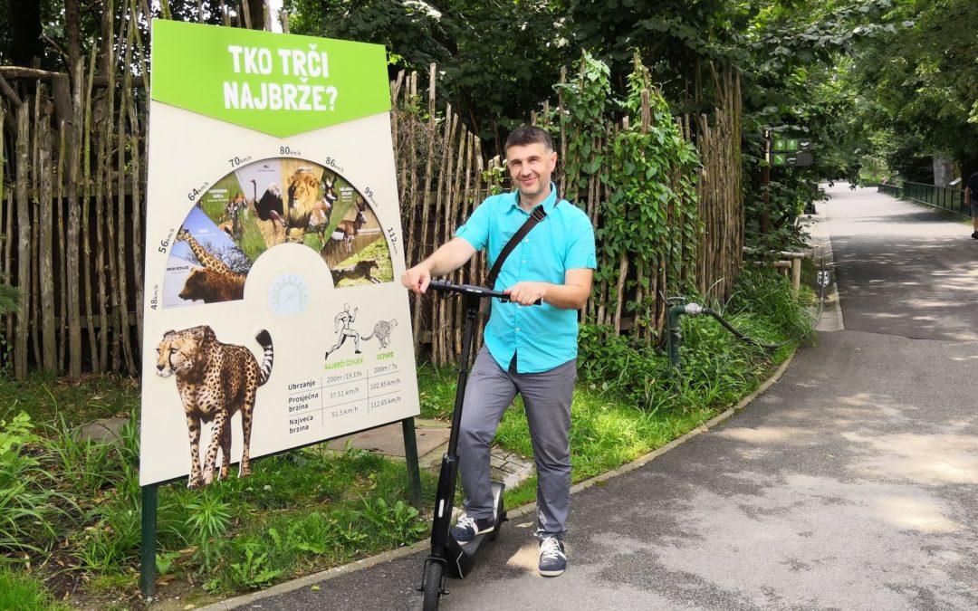 S električnim romobilom u zagrebačkom zoo vrtu